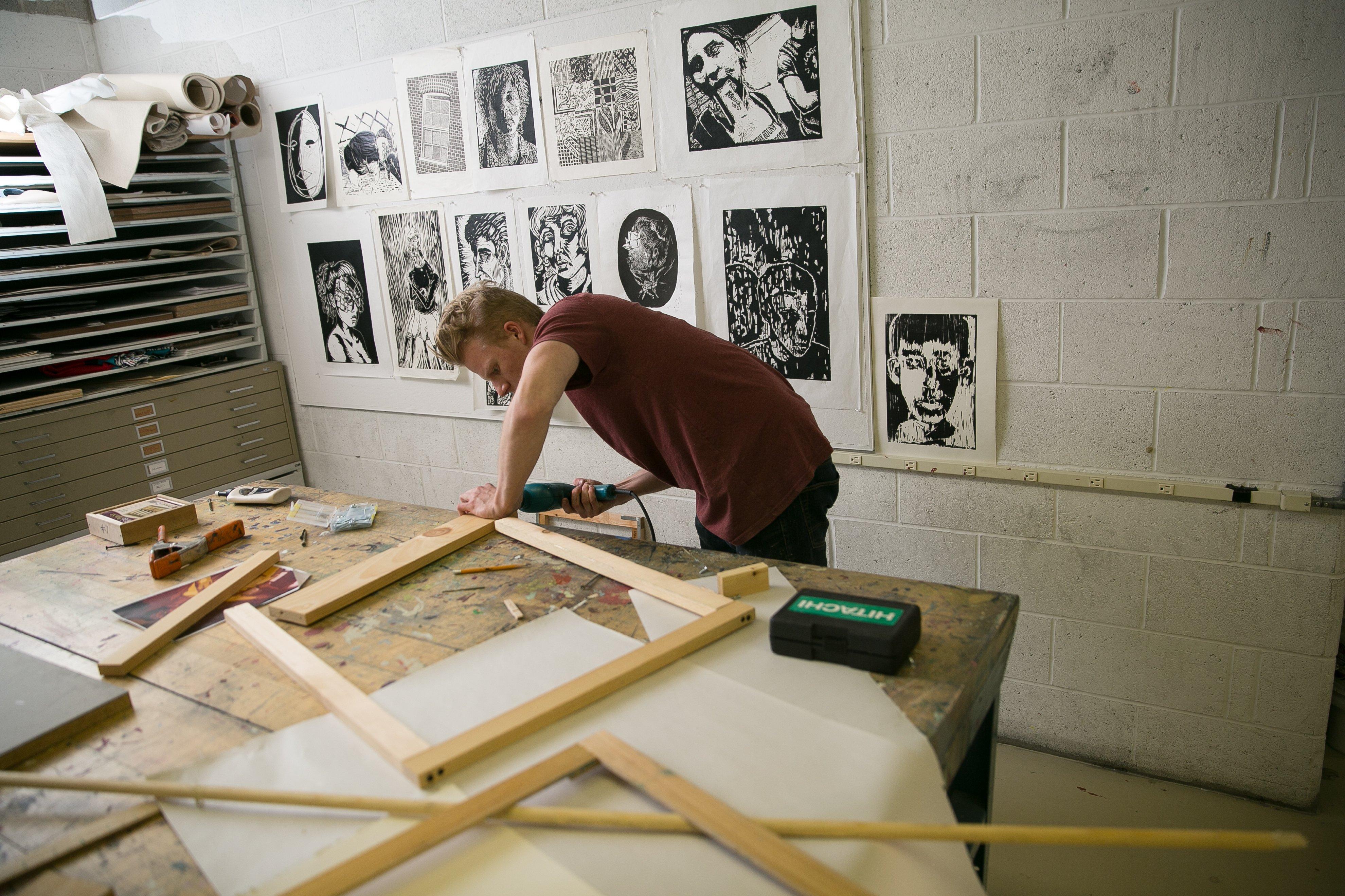 Seth in studio