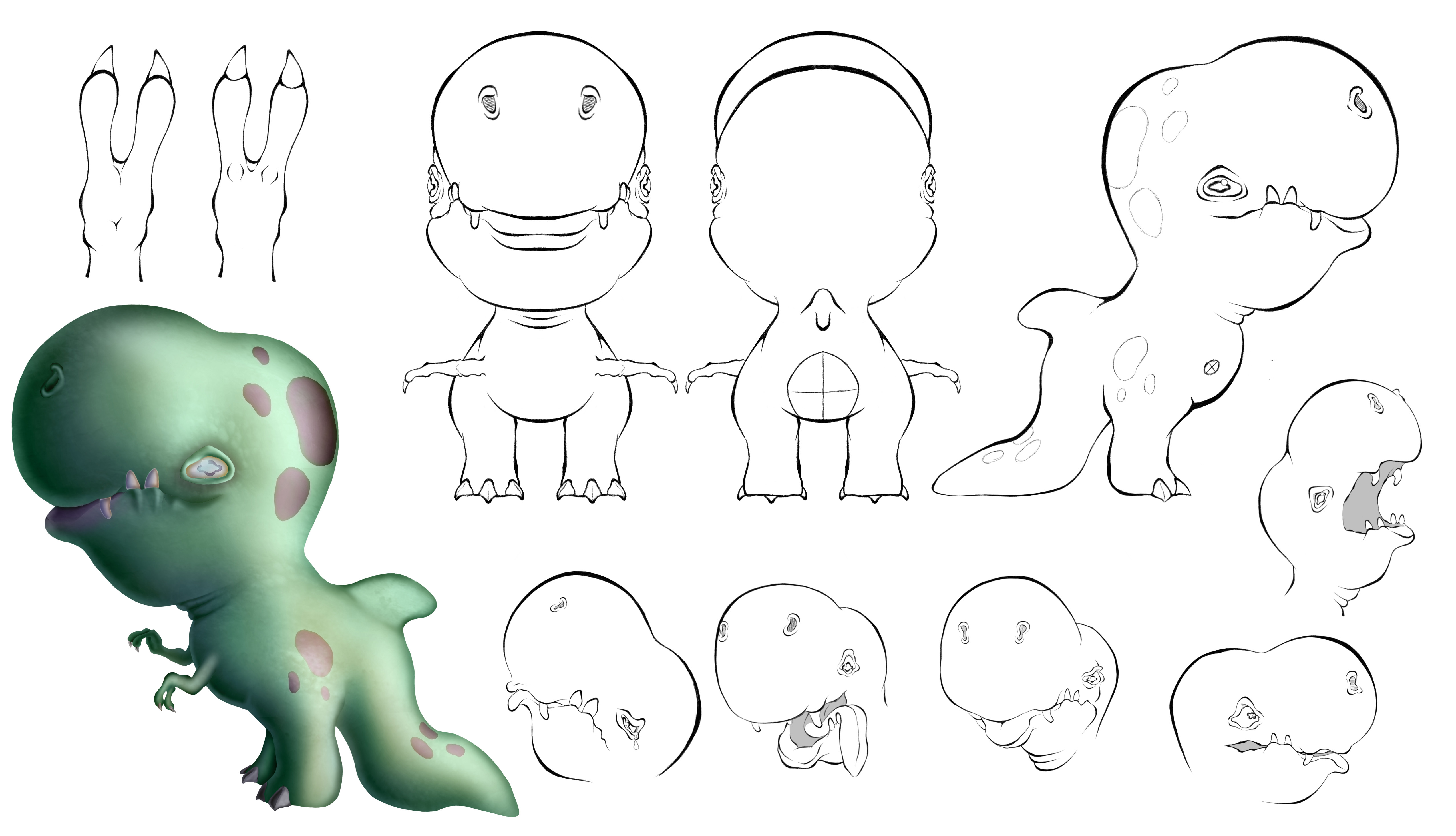 IsaacKuhn-Artwork-DinoModelSheet